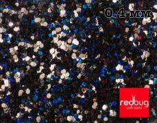 Блестки Чёрные Голографические 0.4 мм 10гр Redbug