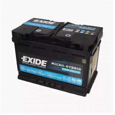 Аккумулятор лодочный тяговый Exide Micro-Hybrid AGM EK700