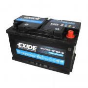 Аккумулятор лодочный тяговый Exide Micro-Hybrid AGM EK800, 80Ah