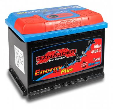 Аккумулятор лодочный тяговый Sznajder Energy 60Ah