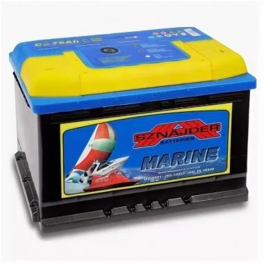 Аккумулятор лодочный тяговый Sznajder Marine 75Ah