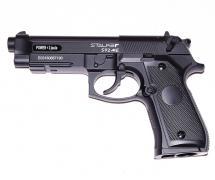 """Пистолет пневм. Stalker S92ME (аналог """"Beretta 92"""") к.4,5мм. металл, 120 м/с, черный, картон.коробка"""