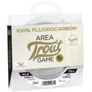 Леска флюорокарбоновая Lucky John FLUOROCARBON Area Trout Game Pink 75м
