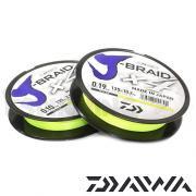 Леска плетеная DAIWA J-Braid X4 135м (флуор.-желтая)