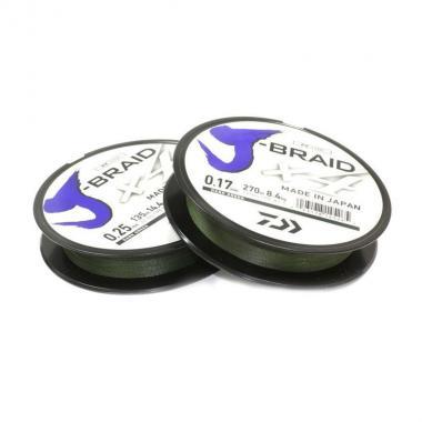 Леска плетеная DAIWA J-Braid X4 270/033 (зеленая)