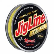 Леска плетеная Momoi JigLine Ultra PE 100м желтая