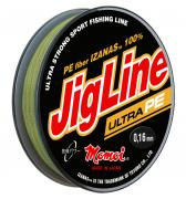 Леска плетеная Momoi JigLine Ultra PE 150м хаки