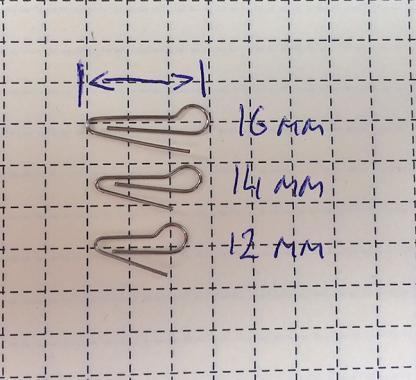 Скрепка под Чебурашку 16мм (D 0.45) - 50шт