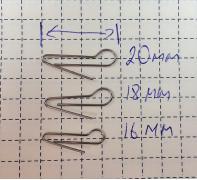 Скрепка под Чебурашку 16мм (D 0.6) - 50шт