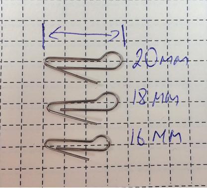 Скрепка под Чебурашку 18мм (D 0.6) - 50шт
