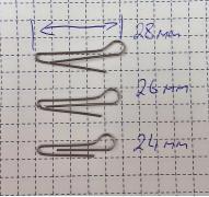 Скрепка под Чебурашку 28мм (D 0.8) - 50шт