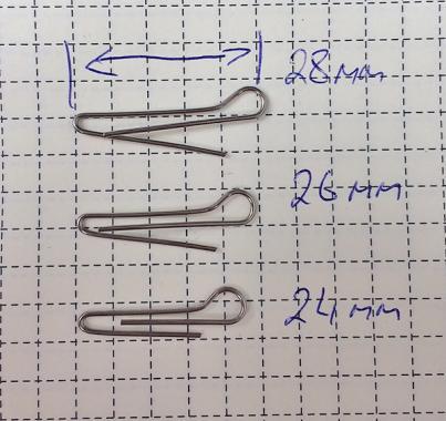 Скрепка под Чебурашку 28мм (D 0.7) - 50шт