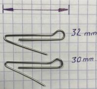 Скрепка под Чебурашку 30 мм (D 0.8) - 50шт