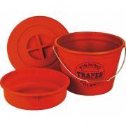 Ведро TRAPER для прикорма 25 л 68034 таз+крышка красное
