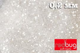 Блестки Белые 0,2 мм 10гр Redbug