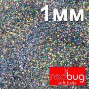 Блестки Голографические 1мм 10гр Redbug