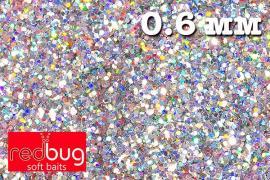 Блестки Голографические 0,6мм 10гр Redbug