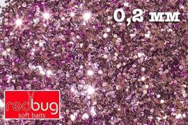 Блестки Розовые 0,2 мм 10гр Redbug