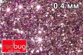 Блестки Розовые 0,4мм 10гр Redbug