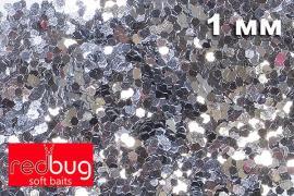 Блестки Серебро 1мм 10гр Redbug