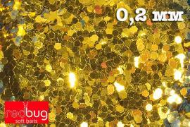 Блестки Золото 0,2 мм 10гр Redbug