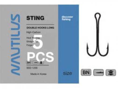 Крючок Nautilus Sting Double SSD 1200 № 6 фасовка 5шт.