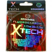 Флюорокарбон Kosadaka X-TECH 0.14мм 1.51кг 30м