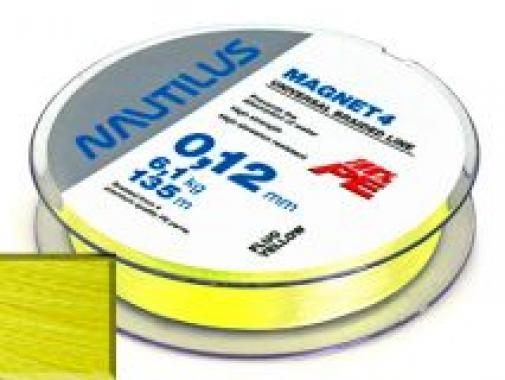 Шнур Nautilus Magnet 4 Yellow d-0.30 29.5кг 135м